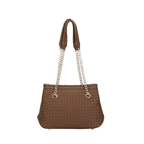 Borsa Delle Donne Woven Tote Borse Shopping Bag Beach,Sandcolor-OneSize
