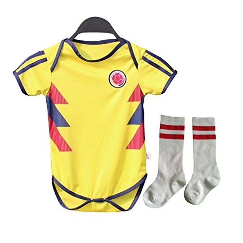 Baby Jersey for 6-18 Month Baby 2018 World Cup Shirt Argentina Spain Mexico Colombia Baby Shirt Romper + Socks (6M-12M, - Romper Jersey Infant