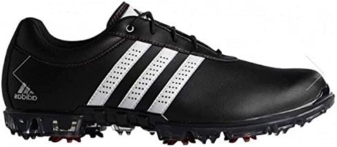 adidas Adipure Flex WD, Zapatos de Golf para Hombre, Negro/Blanco/Rojo, 39.3 EU