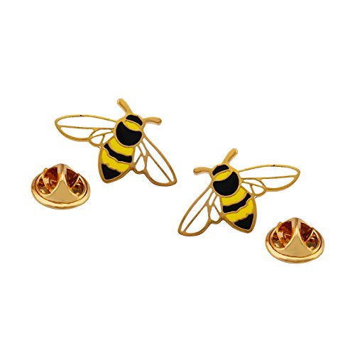 s Cute Small Enamel Lapel Pin Set Gold Tone ()