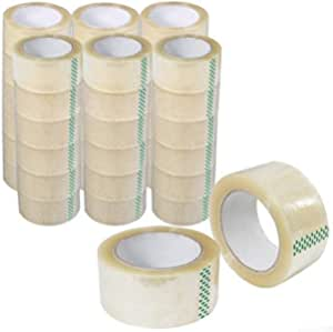 6 Rolls Clear Packaging Sticky Packing Tape Thickness 45 Micron [48mm x 75 metres]