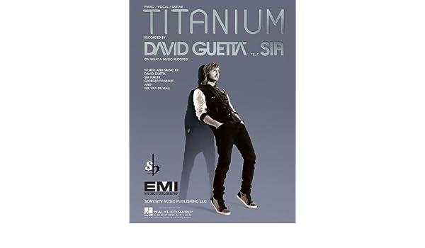 Amazon David Guetta Feat Sia Titanium Pianovocal Sheet