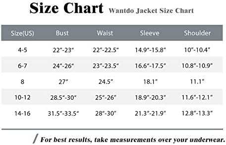 Wantdo Girl's Waterproof Ski Jacket Warm Fleece Winter Coat Insulated Hooded Mountain Outwear