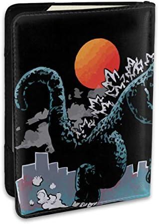 Catching Kaiju - Godzilla ゴジラ パスポートケース パスポートカバー メンズ レディース パスポートバッグ ポーチ 収納カバー PUレザー 多機能収納ポケット 収納抜群 携帯便利 海外旅行 出張 クレジットカード 大容量