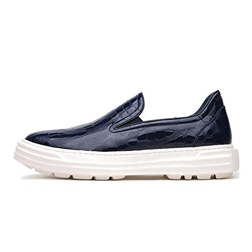 Men's Leather Leisure Tendon Shoes Dress Autumn Business Wedding Fashion Slip On Black-brown Blue cheap sale outlet explore for sale outlet cheap prices free shipping official site DD6CjQd