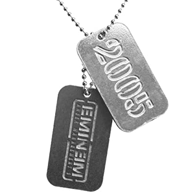 buy online 7f259 85800 ... Old Glory Eminem Logo Dog Tag Necklace Jewelry ...