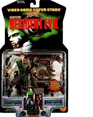 - Resident Evil > Chris Redfield with Cerberus Action Figure 2-Pack