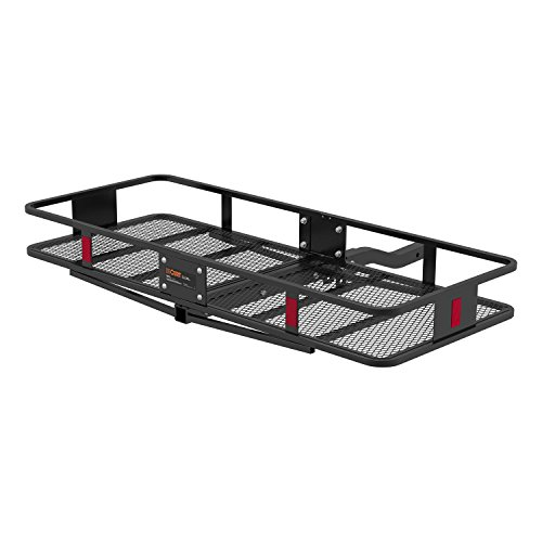 (CURT 18153 Basket Trailer Hitch Cargo Carrier, 500 lbs. Capacity, 60-Inch x 23-1/2-Inch x 5-1/2-Inch, Fits 2-Inch Receiver)
