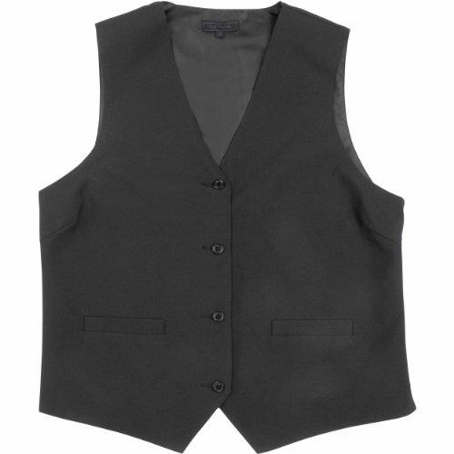 Kyle Thomas Women's 4 Button Polyester Waitress Vest M Black