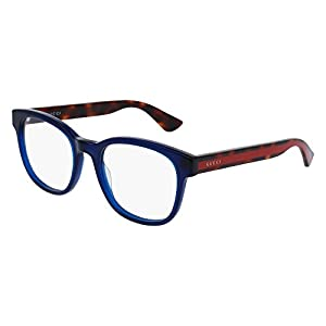 Gucci GG 0005O 008 Blue Plastic Square Eyeglasses 53mm
