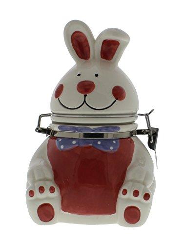 Boston Warehouse Hand-Painted Earthenware Hinged Jar Bunny ()