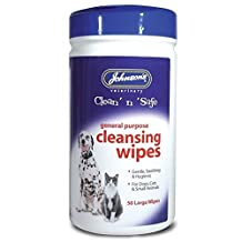 Johnsons Clean 'N' Safe Cleansing Wipes for Cats and Dogs, 50 Wipes by Johnson's