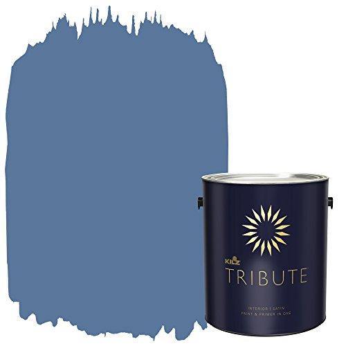 KILZ TRIBUTE Interior Satin Paint and Primer in One, 1 Gallon, Harbor Town (TB-49)