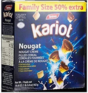 Telma Nougat Creme Filled Kariot Cereal, Family Size (19.8oz) by Telma
