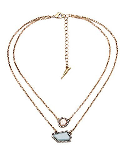 Young & Forever Women's Navratri Diwali Special Sand Sky Dainty Necklace Gold Toned by Young & Forever