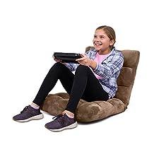 BirdRock Home Adjustable 14-Position Memory Foam Floor Chair & Gaming Chair (Brown)