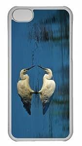 Customized iphone 5C PC Transparent Case - Egretta Garzetta Personalized Cover