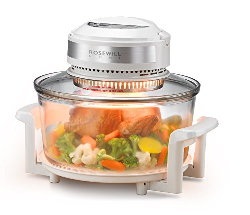 Rosewill RHCO-16001 Infrared Halogen Convection Technology Digital Oven with extender ring (The Sharper Image Super Wave Halogen Oven)