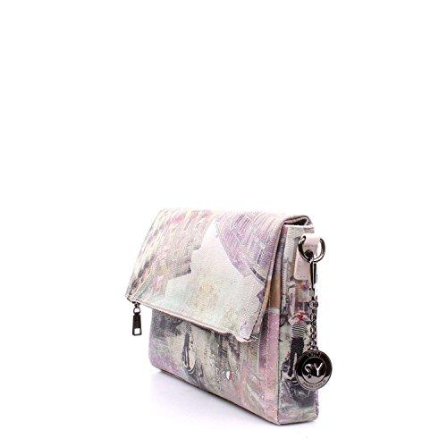 Borsa a tracolla con patta Y Not - H394 Pink Lagoon