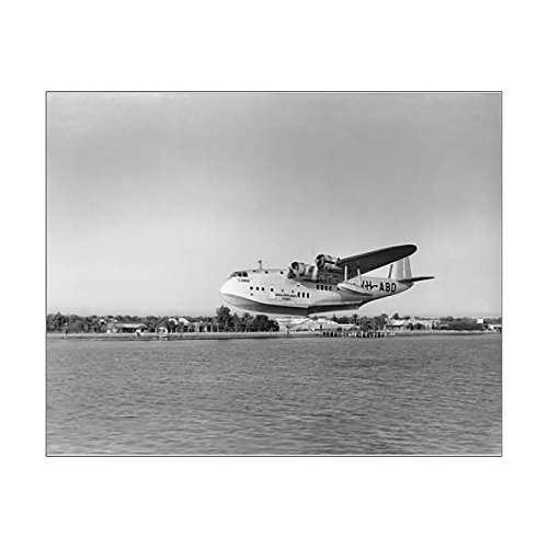 10x8 Print of Short C-Class flying boat VH-ABD of Qantas (Qantas Vh)