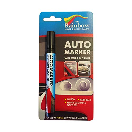 Price comparison product image Car Paint Marker Pens Auto Writer - All Surfaces,  Windows,  Glass,  Tire,  Metal - Any Automobile,  Truck or Bicycle,  Water Based Wet Erase Removable Markers Pen - 5mm tip - Black