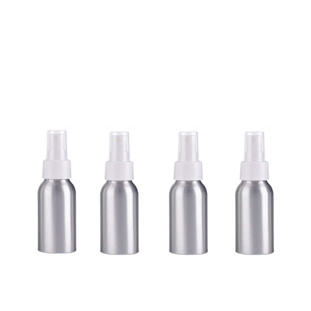 ConStore 4 Pack 50ml Cosmetic Atomizers Fine Mist Spray Bottle Aluminum Make Up Perfume sprayers Travel Bottles Pump Empty Sample Perfume Containers (Black)