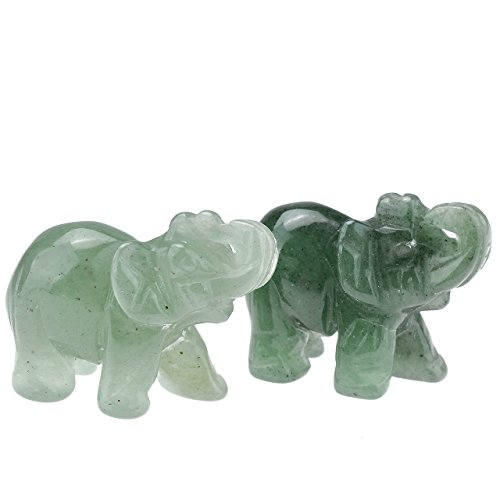 Gemstones Elephant Figurine Decoration Aventurine