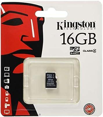 Kingston SDC4/16GBSP - MicroSD Clase 4 (microSDHC) 16 GB: Amazon ...