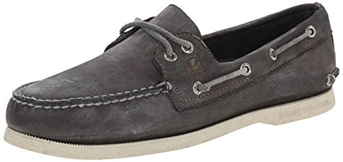 Sperry Top-Sider Mens AO 2 Eye Color Wash Boat Shoe Grey 9.5 M US