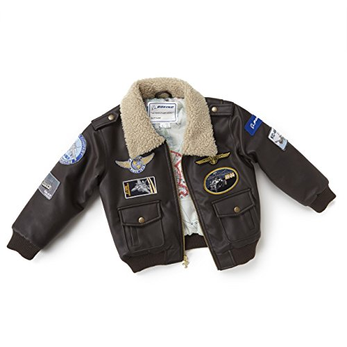 Brown Aviator Jacket - Youth; COLOR: BROWN; SIZE: 4/5