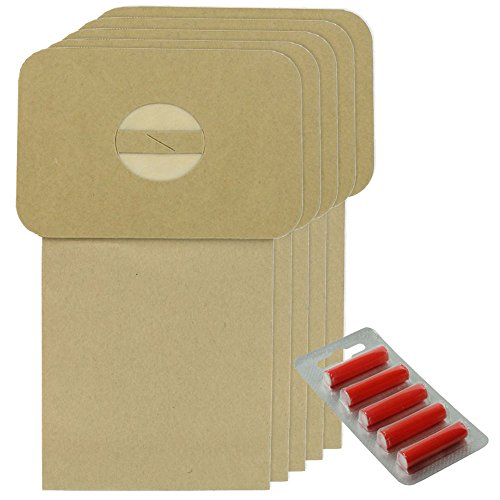 Spares2go Strong Dust Bags For Volta U240 U241 Vacuum Cleaner (Pack Of 5 + 5 Fresheners)