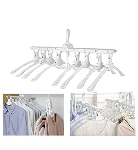 PENGKE White Magic Hangers Space Saving Clothes Hangers Organizer Smart Closet Space Saver with Sturdy Plastic for Heavy Clothes ()