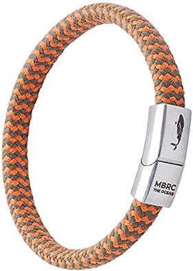 MBRC Arctic, MBRC pulsera con elegante Click-on Magnetverschluß, Surfer Armband, Seilarmband de 100% de plástico reciclado.