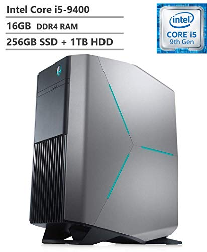 2019 Alienware Auaora R8 Tower Gaming Desktop PC, Intel Core i5-9400 2.90GHz, NVIDIA GeForce GTX 1660Ti 6GB, 16GB DDR4 RAM, 256GB SSD + 1TB HDD, 802.11ac + Bluetooth, HDMI, DisplayPort, Windows 10
