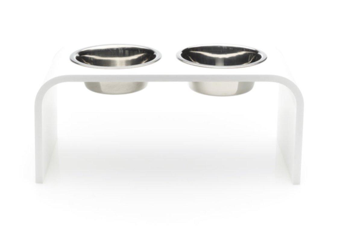 Trendy Pet Bowl Pet Feeder, White, 6''/2 quart