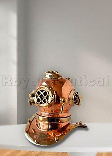Brass Nautical Divers Helmet Deep Diving scuba style Vintage HM163 Divers helmet costume ()