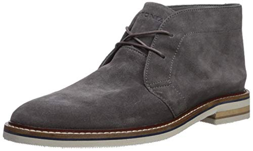 Bostonian Men's Dezmin Mid Chukka Boot, Grey Waterproof Suede, 10 Medium US ()