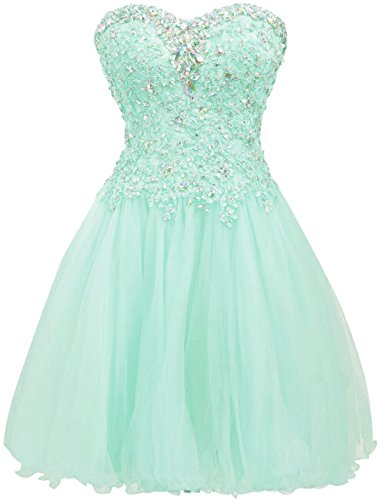 ing Dress Cocktail Dresses Lace Party Dress Strapless Prom Dress Sweetheart Homecoming Dresses Ball Gown Aqua US2 ()