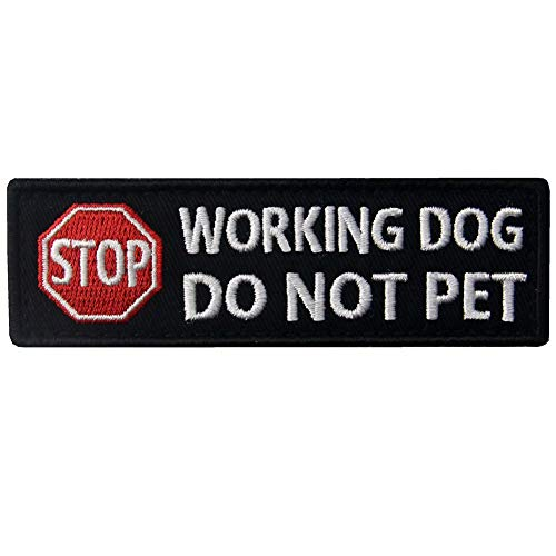 Service Dog Working Do Not Pet Warning Vests/Harnesses Patch Embroidered Badge Fastener Hook & Loop Emblem