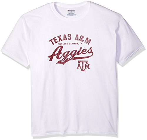 NCAA Texas A&M Aggies Men's Champ Short Sleeve T-Shirt 8, Large, White ()