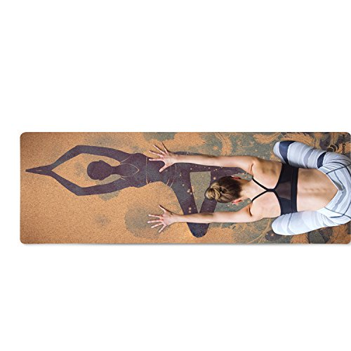 HONEY BEE High Classic Cork Yoga Mat Artist Collection