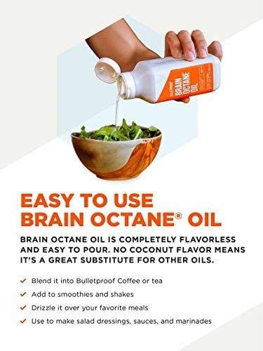 Bulletproof Brain Octane C8 MCT Oil from Coconut Oil Provides Mental and Physical Energy, Keto and Paleo Friendly, Made in USA, 16 Fl. Oz. 5