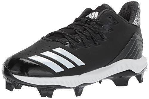 adidas Men's Icon Bounce TPU, Black/White/Carbon, 8 M US (Best Molded Baseball Cleats 2019)
