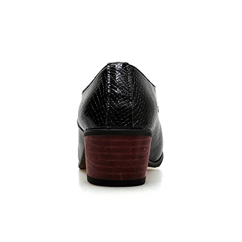 SKY-Maria Homme Mode Pointu Chaussures en Cuir Chaussures Décontractées Fond Épais Augmen Black 6sUy7rW
