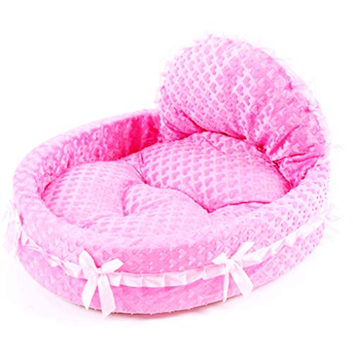 Krastal Dog House Circular Lace Princess Puppy House Pet Lace Pet Kennel Cat Beds Luxury Cat Sofa Dog Bed
