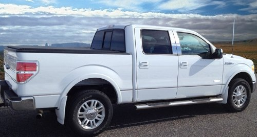 Made In USA! 09-2014 F150 Crew Cab 6.5' Short Bed W/Fender Flare Groove Insert Rocker Panel Chrome Stainless Steel Body Side Moulding Molding Trim Cover 1/2