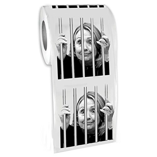 Hillary For Prison ® - Highly Collectible Novelty Toilet Paper - By American Art Classics, Inc. - Funny for Democrats or Republicans - Give the Gift of Laughter- Funniest Political Gift of 2016