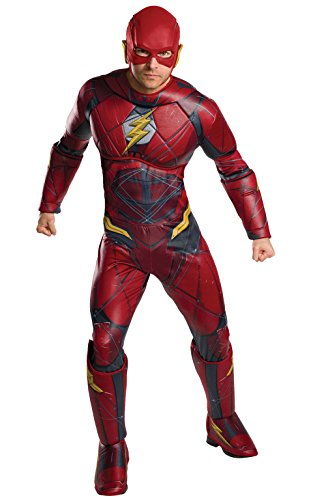 [Rubie's Justice League Adult Deluxe Flash Costume, X-Large] (Harley From Batman Costumes)