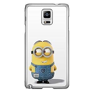 Loud Universe Samsung Galaxy Note 4 Files Minion 30 Printed Transparent Edge Case - Multi Color