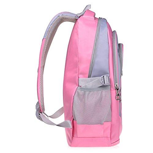 Vbiger Girl's & Boy's Backpack for Middle School Cute Bookbag Outdoor Daypack (Pink)